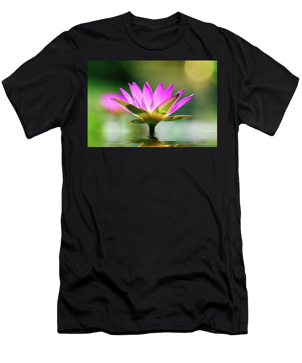 Art Prints Men's T-Shirt (Athletic Fit) featuring the photograph Water Lilly by TJ Baccari