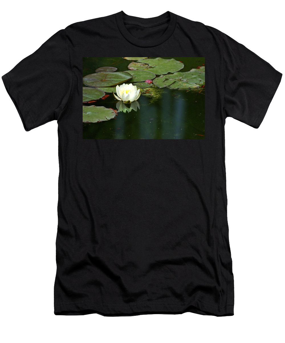 Lily Men's T-Shirt (Athletic Fit) featuring the photograph Water Lily by Heather Coen