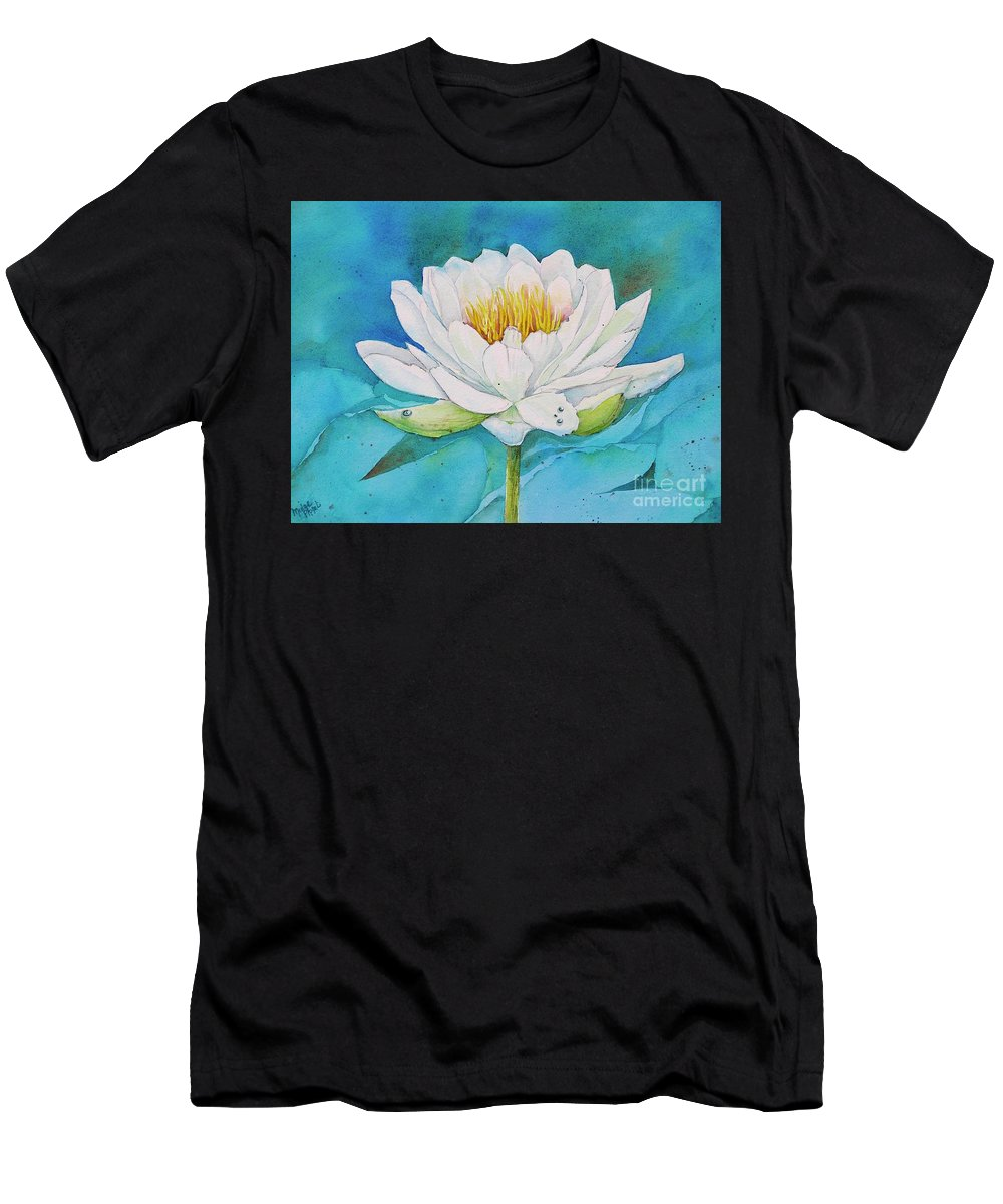 Water Lily T-Shirt featuring the painting Water Lily by Midge Pippel