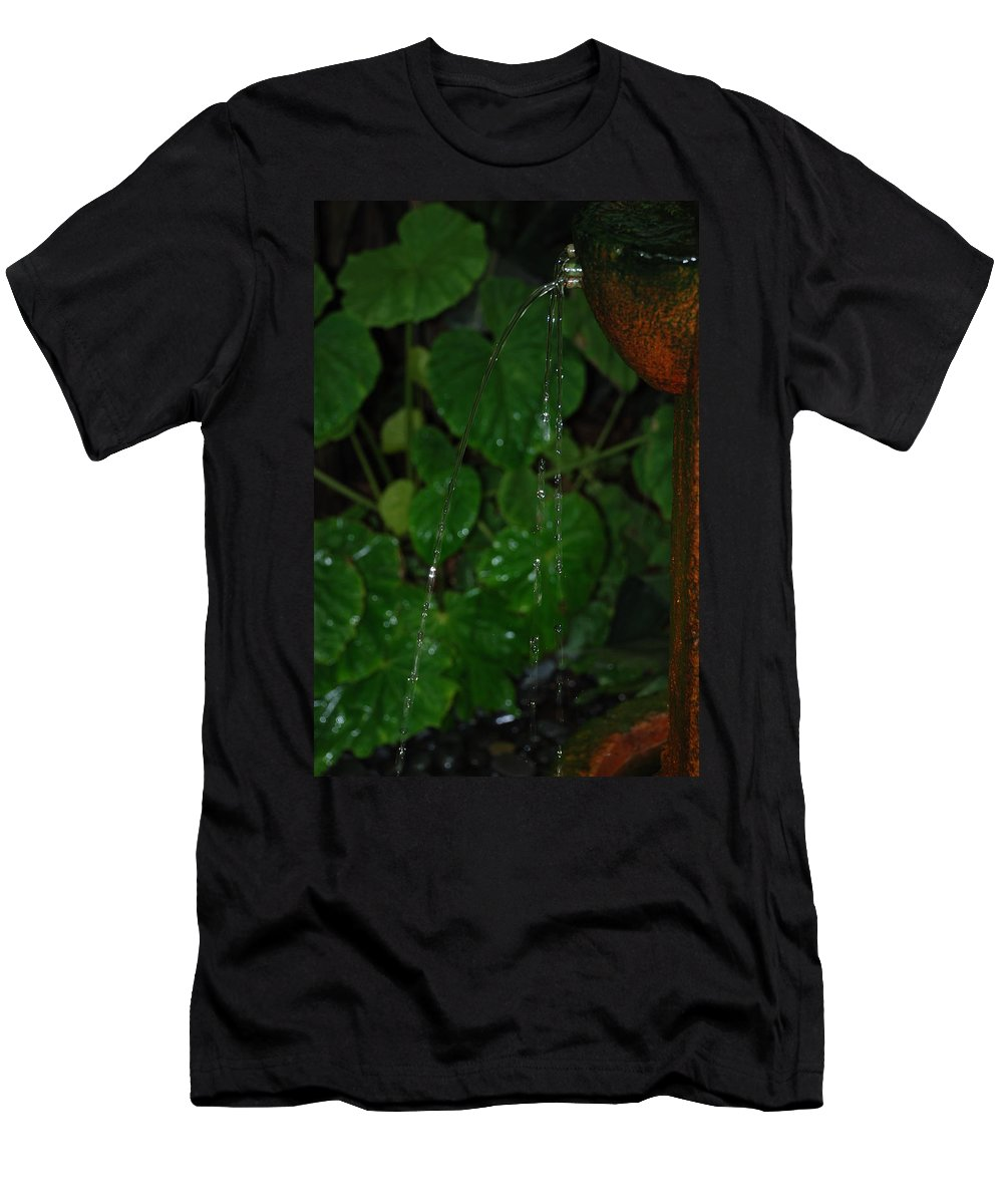 Macro Men's T-Shirt (Athletic Fit) featuring the photograph Waterfall by Rob Hans