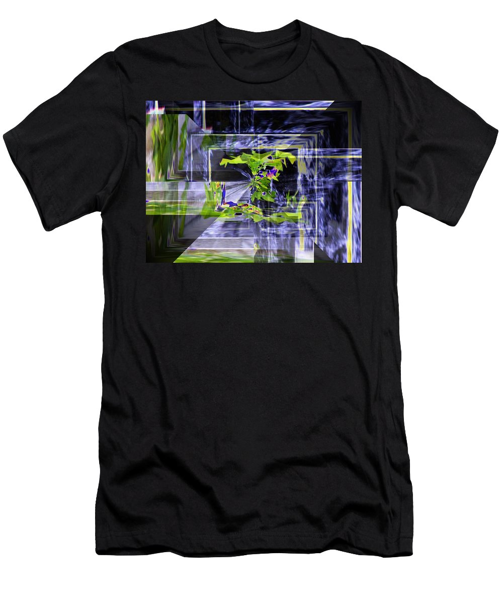 Seattle Men's T-Shirt (Athletic Fit) featuring the photograph Waterfall Vortex by Tim Allen