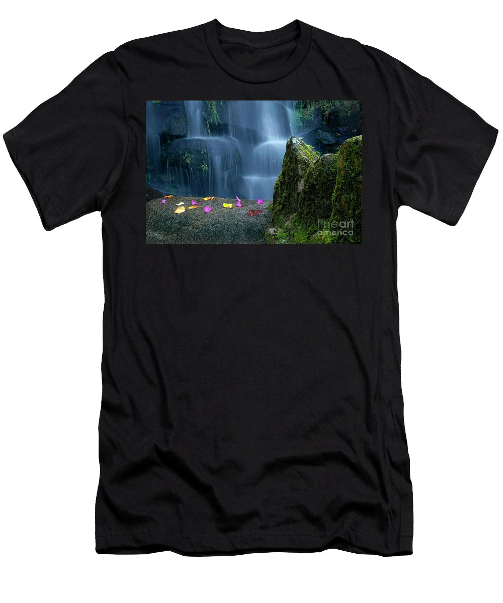 Autumn Men's T-Shirt (Athletic Fit) featuring the photograph Waterfall02 by Carlos Caetano