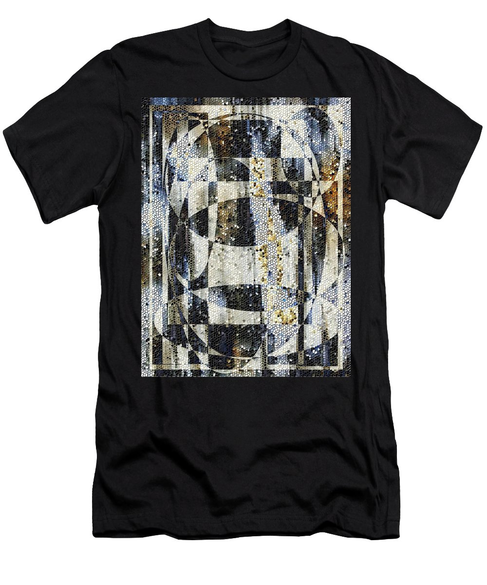 Mosaic Men's T-Shirt (Athletic Fit) featuring the photograph Waterfalling by Tim Allen