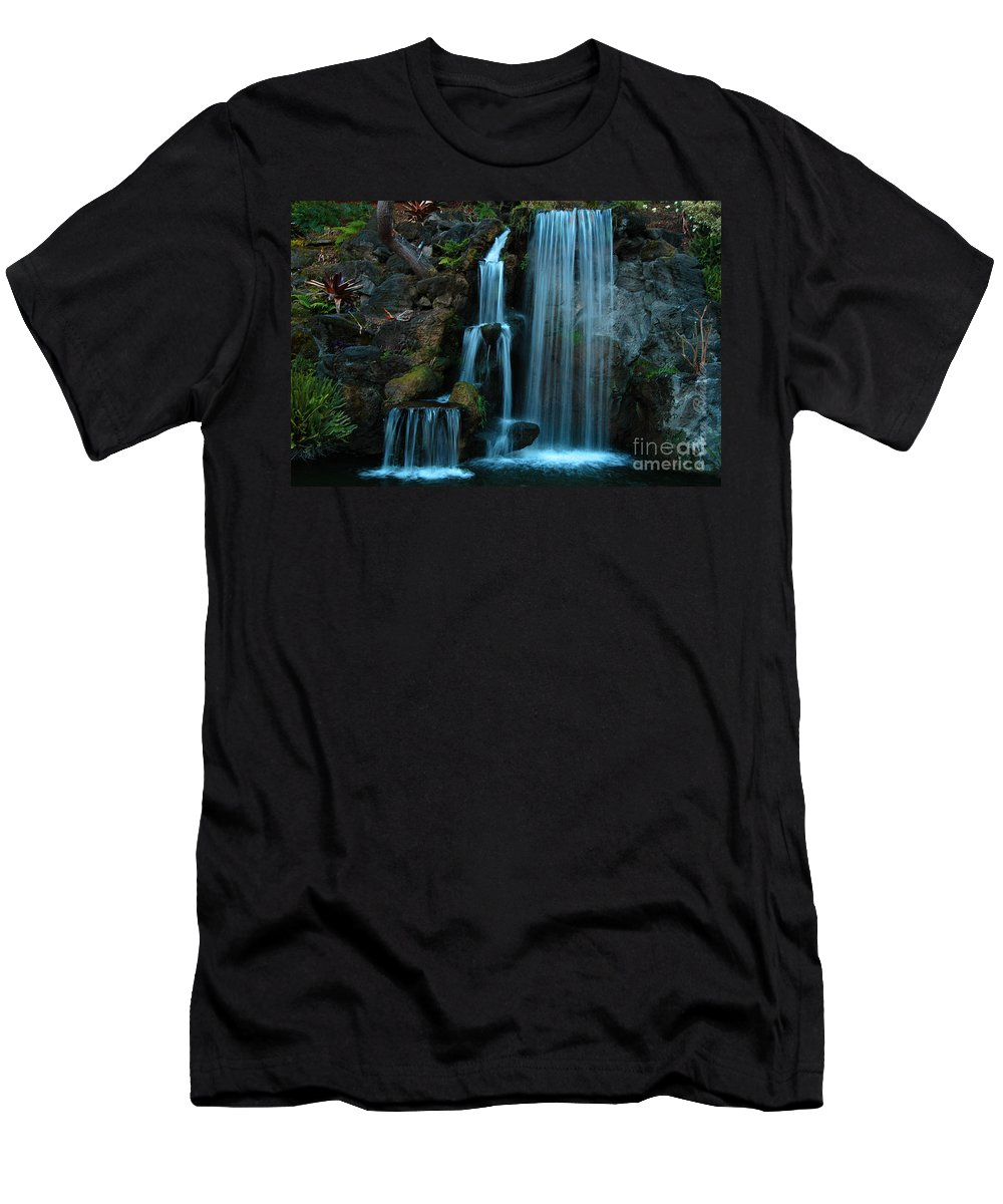 Clay Men's T-Shirt (Athletic Fit) featuring the photograph Waterfalls by Clayton Bruster