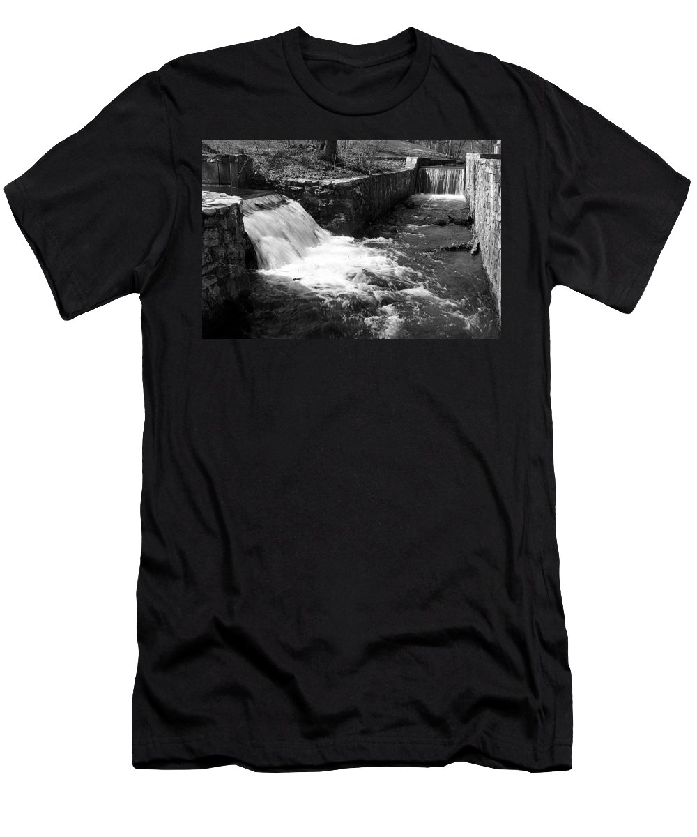 Water Men's T-Shirt (Athletic Fit) featuring the photograph Waterfalls by Jean Macaluso