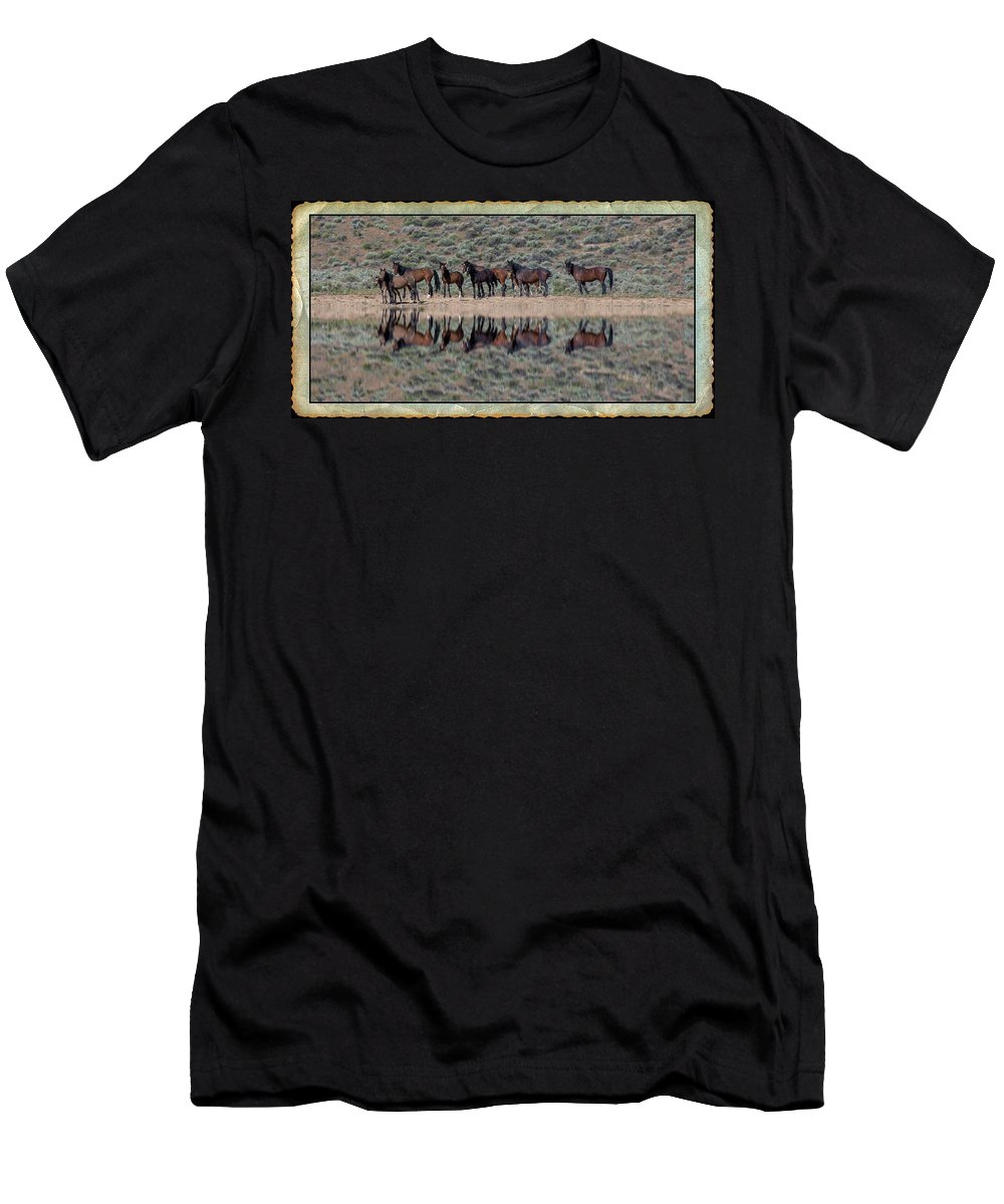 Waterhole Men's T-Shirt (Athletic Fit) featuring the photograph Waterhole by Richard Cronberg