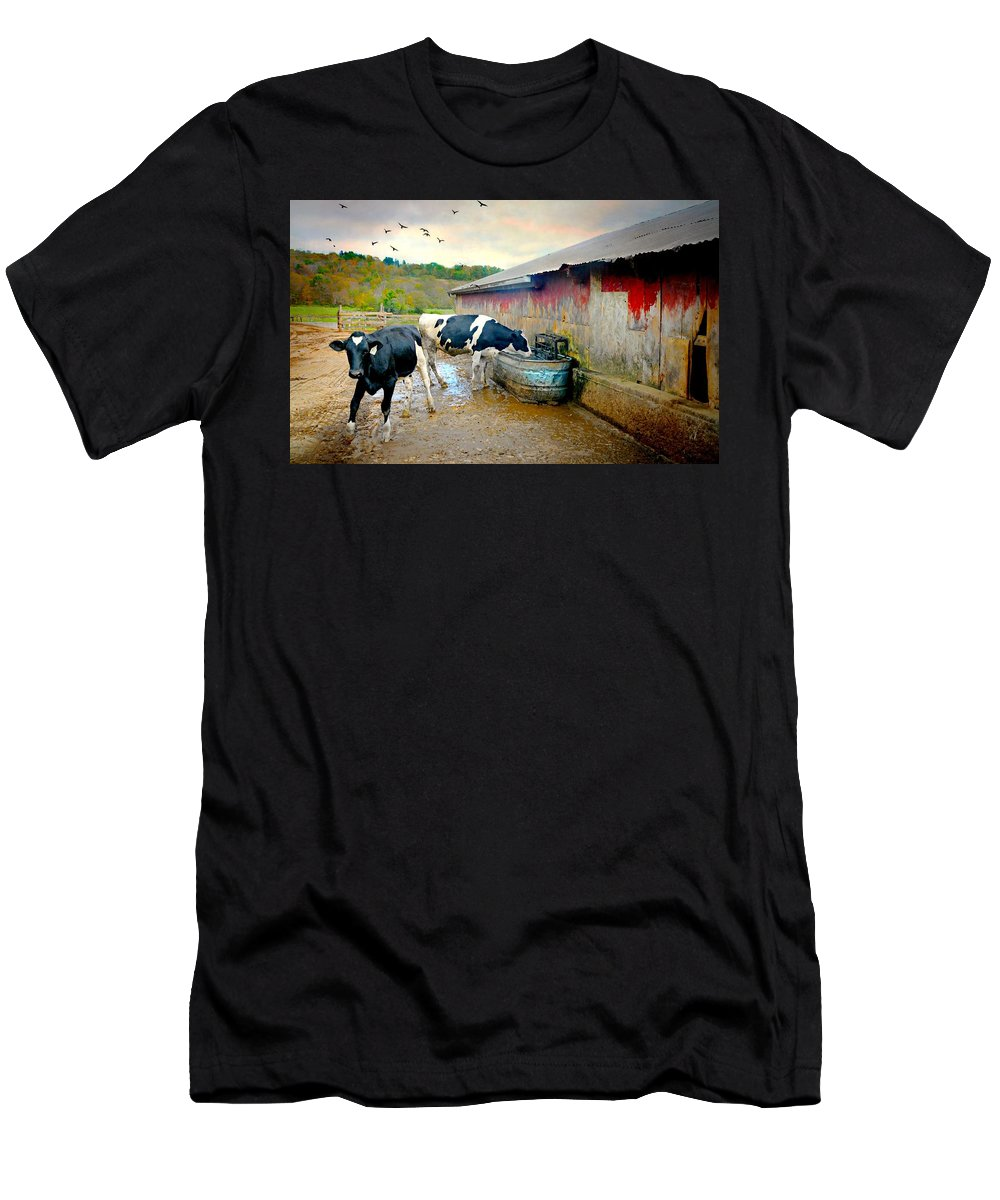 Watering Hole Men's T-Shirt (Athletic Fit) featuring the photograph Watering Hole by Diana Angstadt