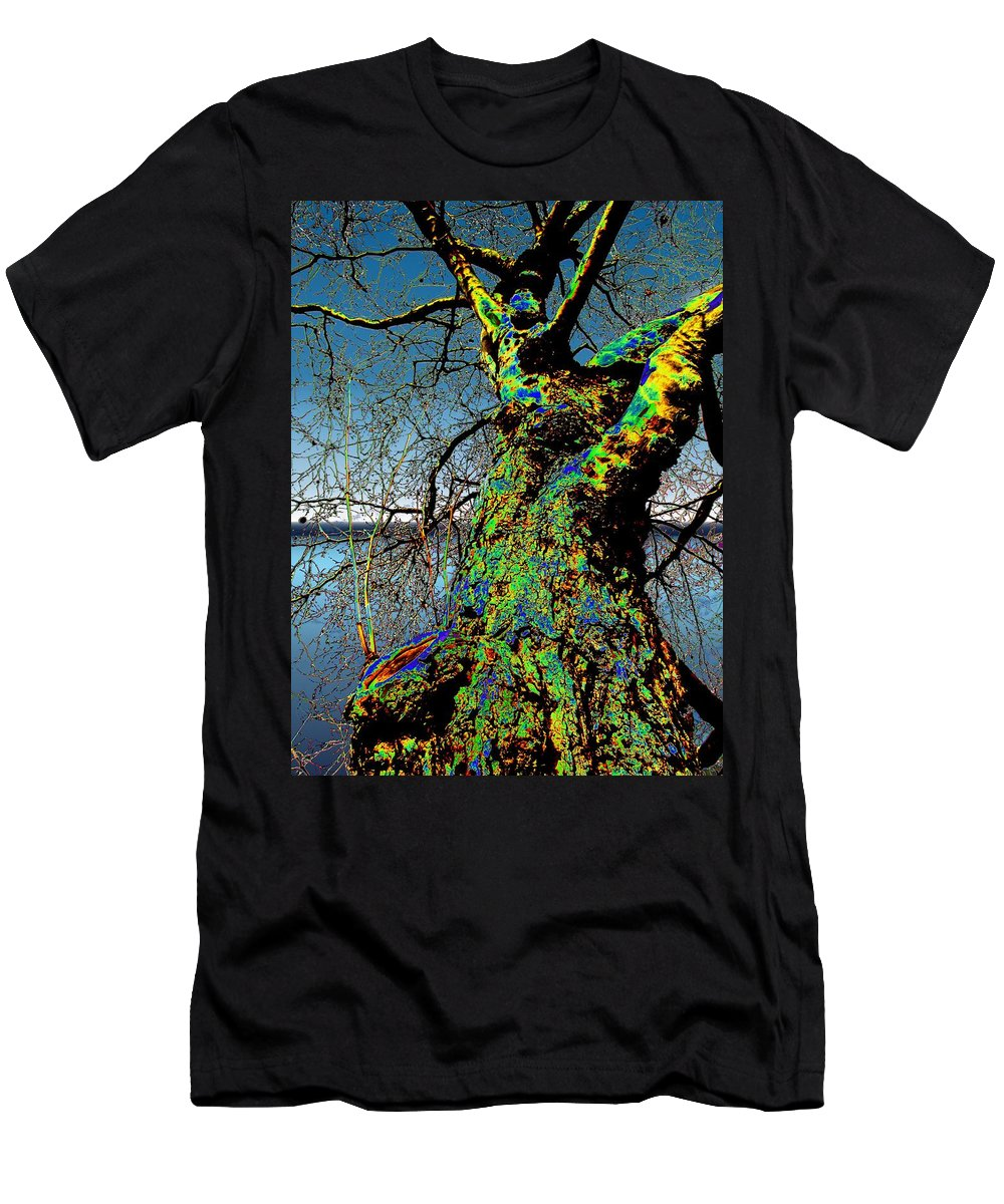 Tree Men's T-Shirt (Athletic Fit) featuring the photograph Waters Edge by Tim Allen