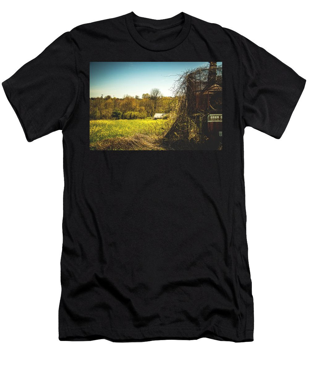 Rural Men's T-Shirt (Athletic Fit) featuring the photograph Forgotten Farmlands by Howard Roberts