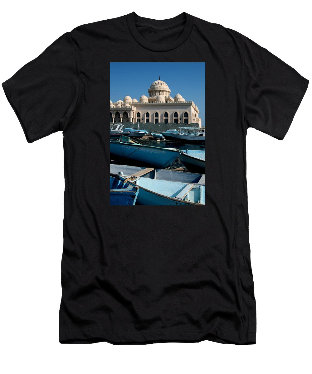 Hurghada Men's T-Shirt (Athletic Fit) featuring the photograph We Moar Homage by Jez C Self