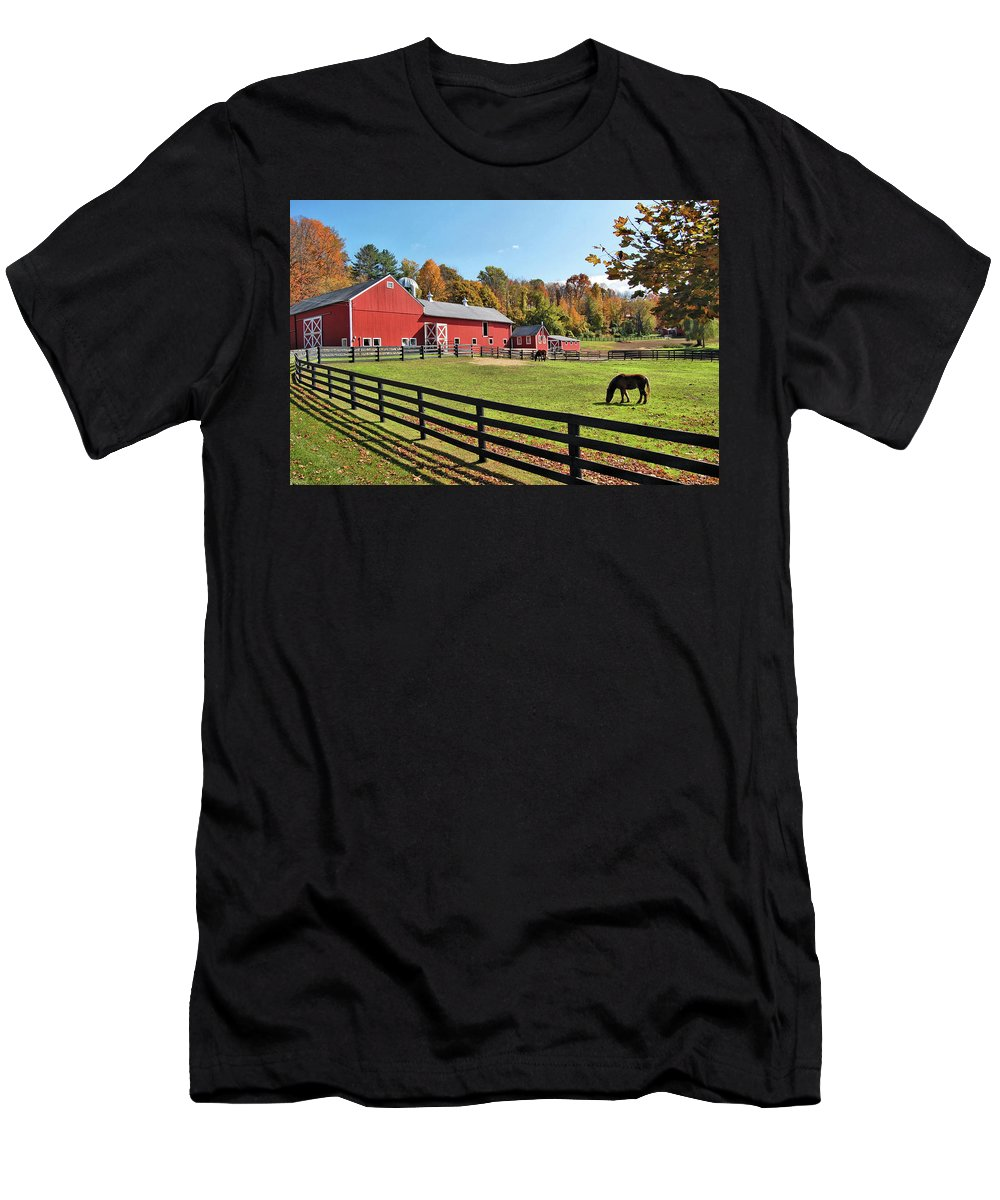 Weathercock Farm Men's T-Shirt (Athletic Fit) featuring the photograph Weathercock Farm by Ben Prepelka