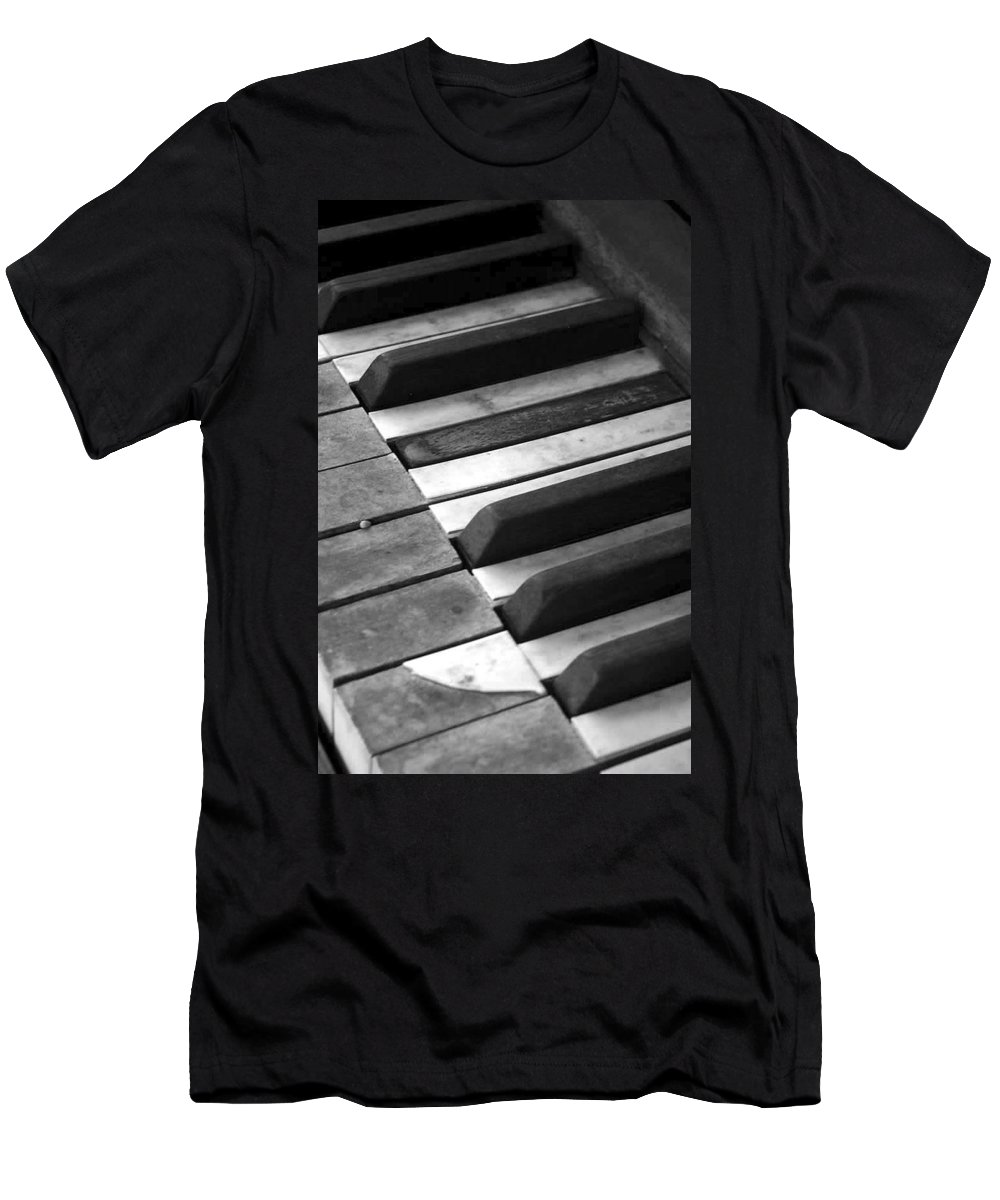 Piano Men's T-Shirt (Athletic Fit) featuring the photograph Weathered Music by Adam Vance