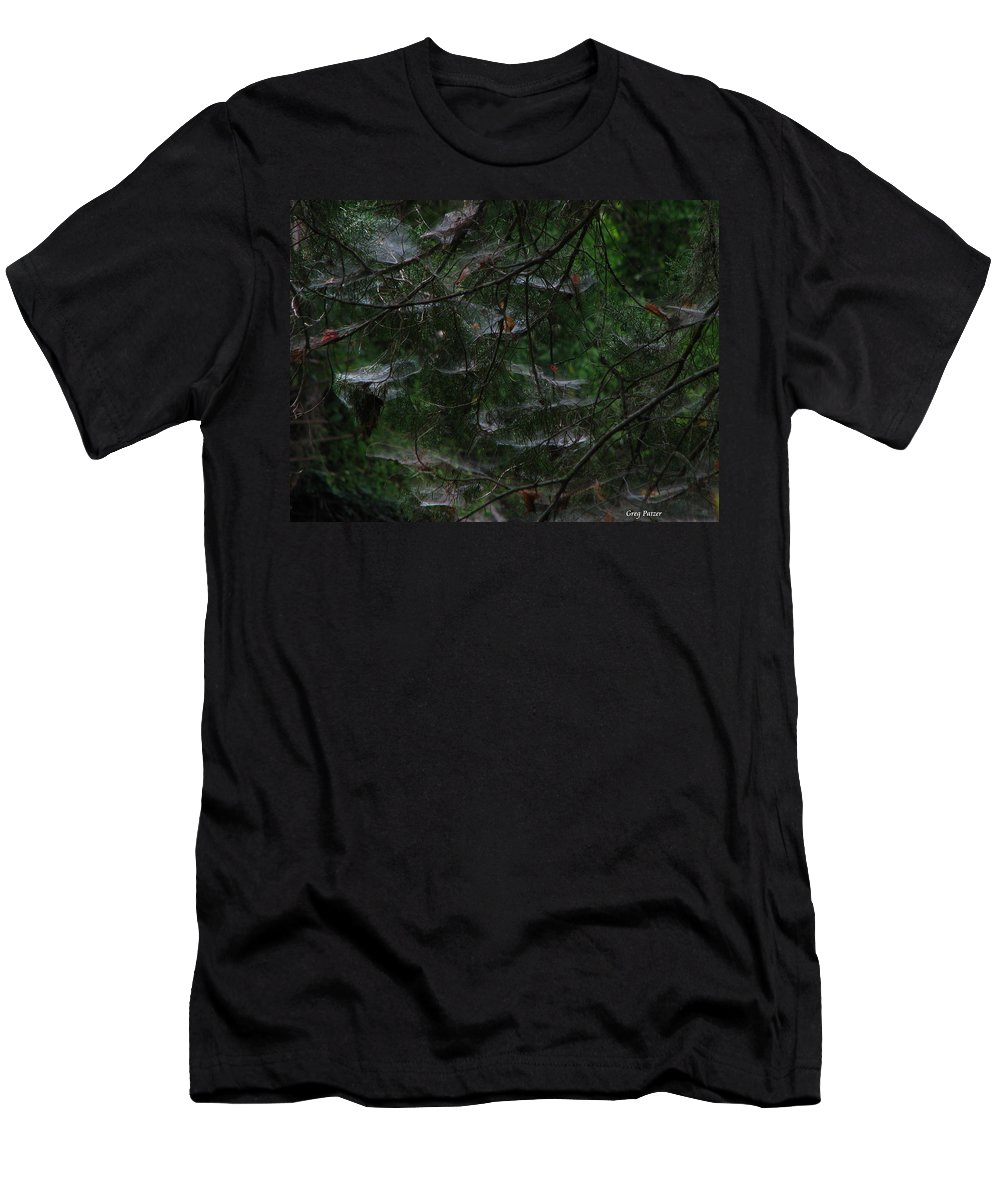Patzer Men's T-Shirt (Athletic Fit) featuring the photograph Webs Of A Tree by Greg Patzer