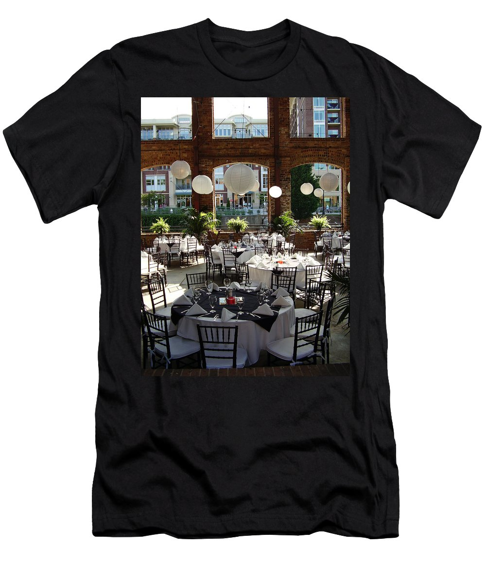 Markley Carriage Men's T-Shirt (Athletic Fit) featuring the photograph Wedding by Flavia Westerwelle