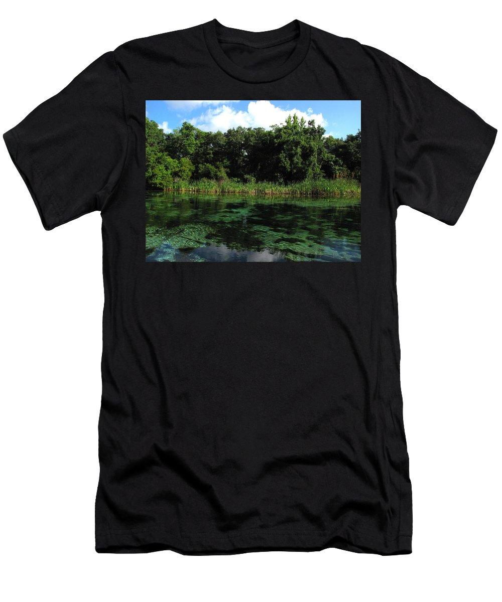 Weeki Wachee River Men's T-Shirt (Athletic Fit) featuring the photograph Weeki Wachee River by Barbara Bowen