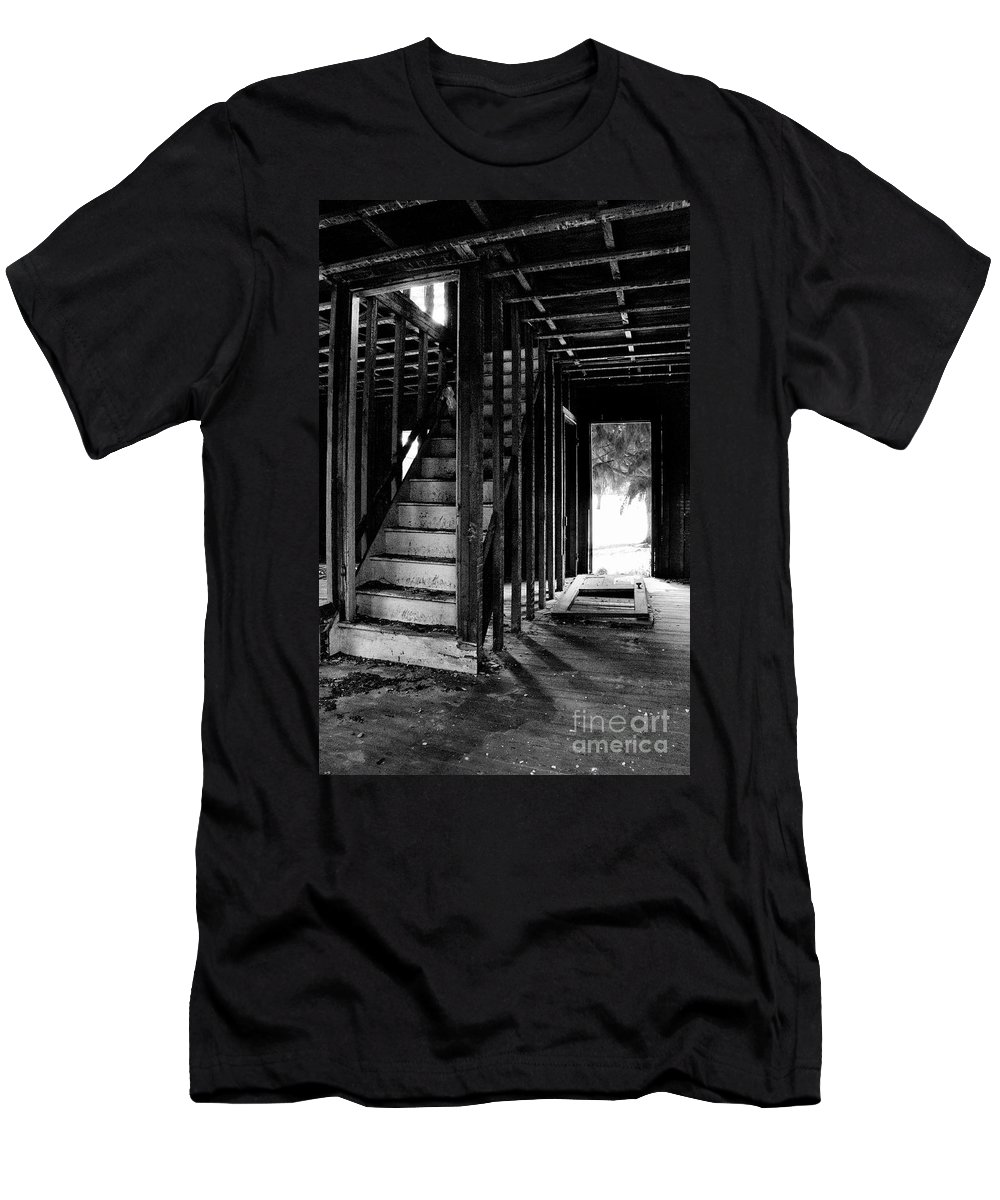 Stairs Men's T-Shirt (Athletic Fit) featuring the photograph Welcome by Scott Hafer