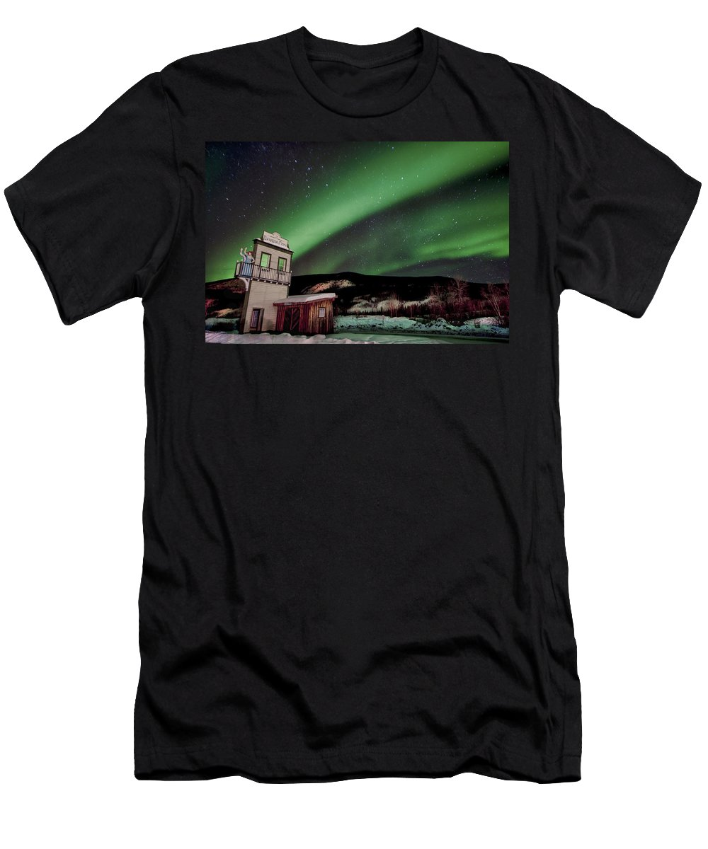 Dawson City Men's T-Shirt (Athletic Fit) featuring the photograph Welcome To Dawson City by Craig Voth
