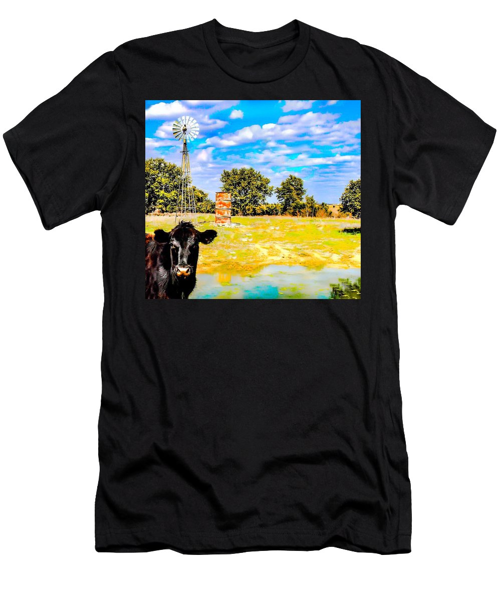 Windmill Men's T-Shirt (Athletic Fit) featuring the photograph Well Hello There by Jeanie Mann