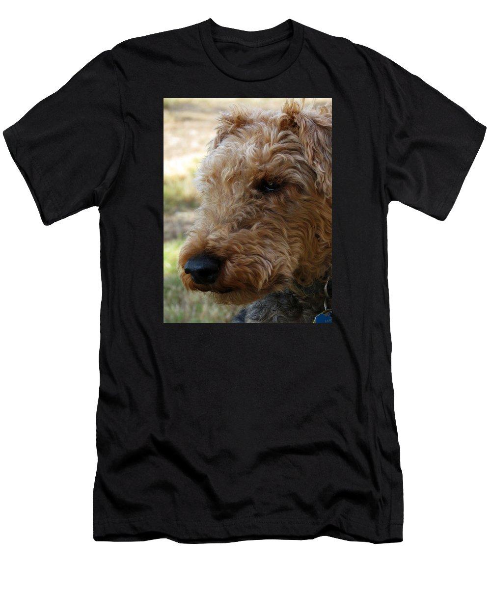 Canine Men's T-Shirt (Athletic Fit) featuring the photograph Welsh Lancelet by Laurel Powell