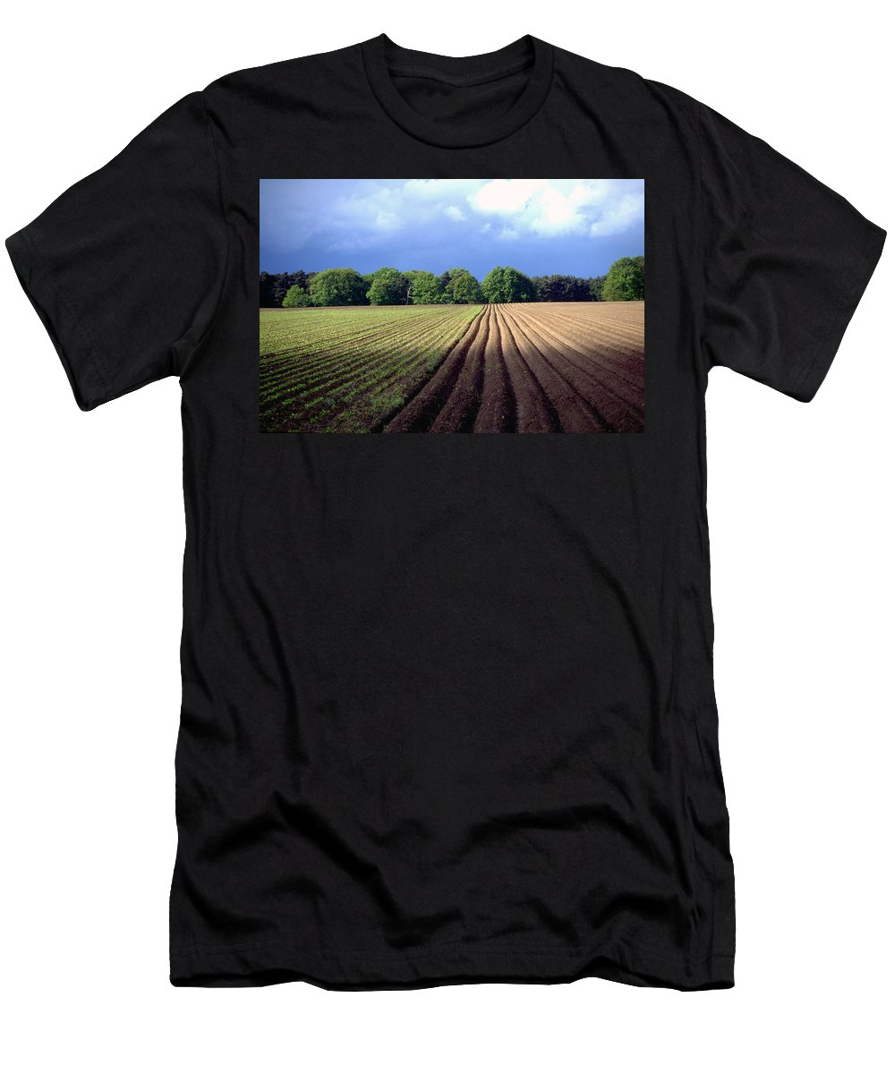Wendland Men's T-Shirt (Athletic Fit) featuring the photograph Wendland by Flavia Westerwelle