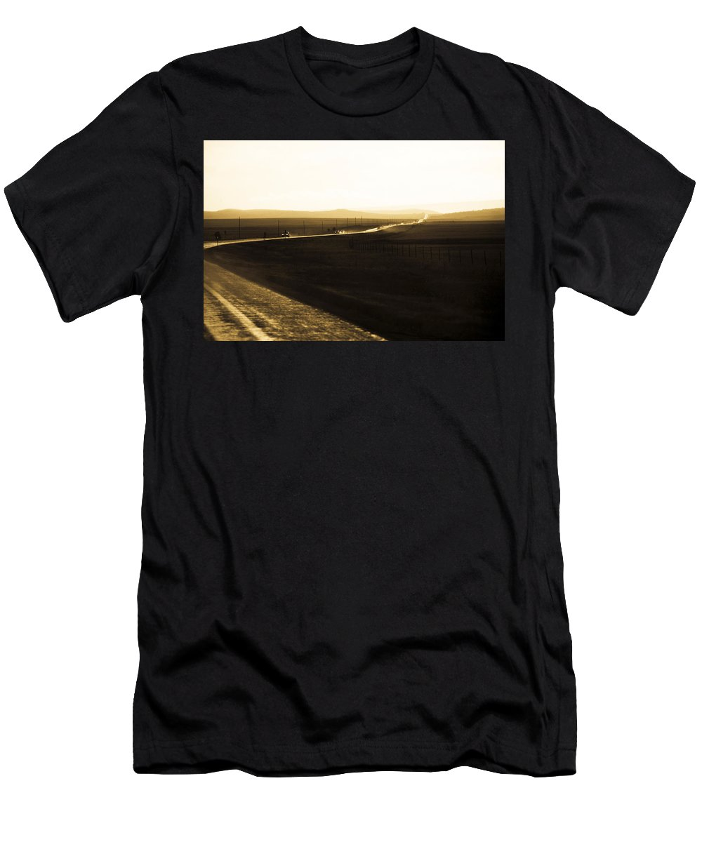 Rain Men's T-Shirt (Athletic Fit) featuring the photograph Western Rain by Marilyn Hunt