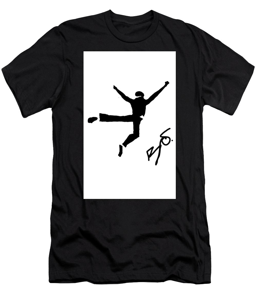 Men's T-Shirt (Athletic Fit) featuring the digital art Westside Story by Ralph Perry