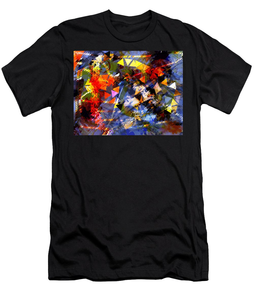 Abstract Men's T-Shirt (Athletic Fit) featuring the photograph Wet Leaves by Mindy Newman