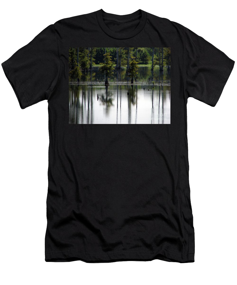 Wetlands Men's T-Shirt (Athletic Fit) featuring the photograph Wetland by Amanda Barcon