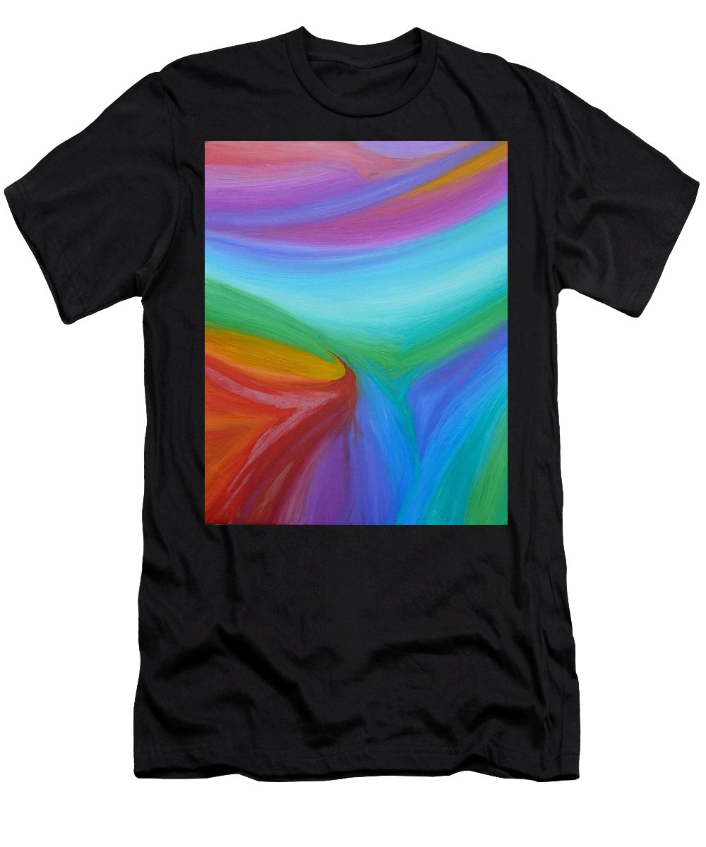 Abstract Men's T-Shirt (Athletic Fit) featuring the painting What A Colorful World by Timothy Smith