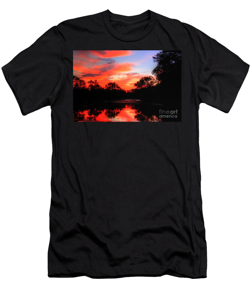 Related Tags: Men's T-Shirt (Athletic Fit) featuring the photograph What A Morning 2 by Robert Pearson