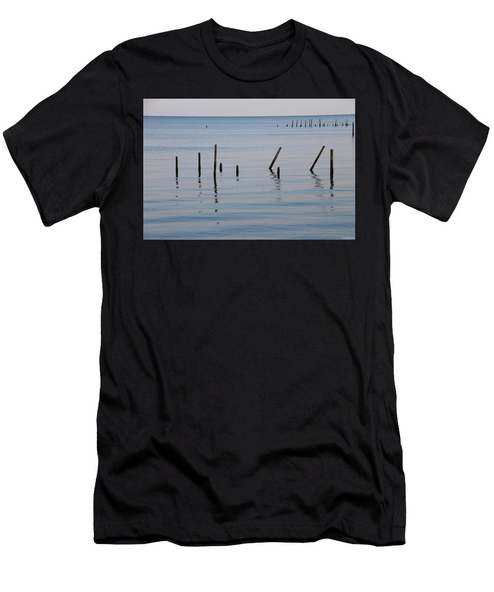 Water Men's T-Shirt (Athletic Fit) featuring the photograph What Once Was by Laura Martin