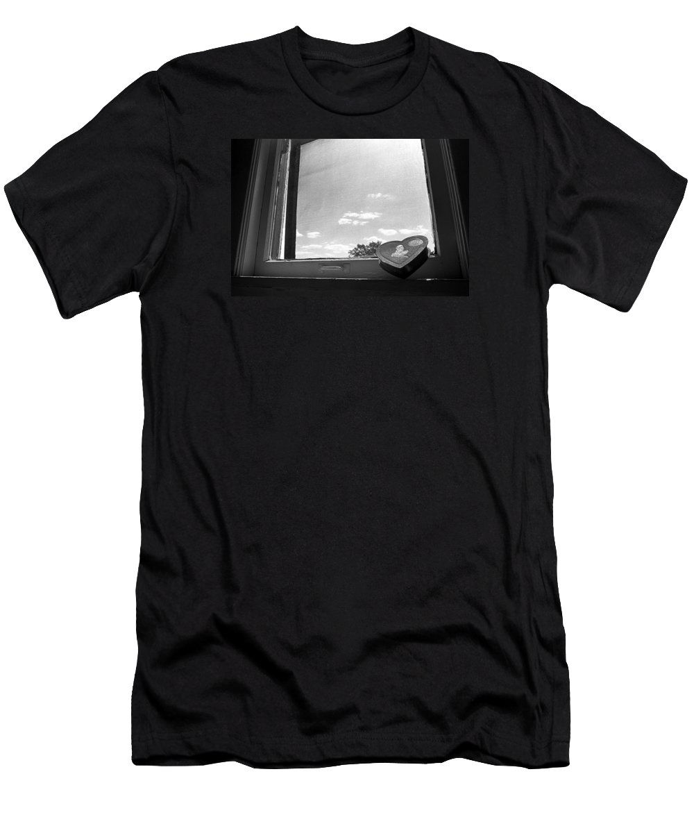 Window Men's T-Shirt (Athletic Fit) featuring the photograph What Remains by Ted M Tubbs