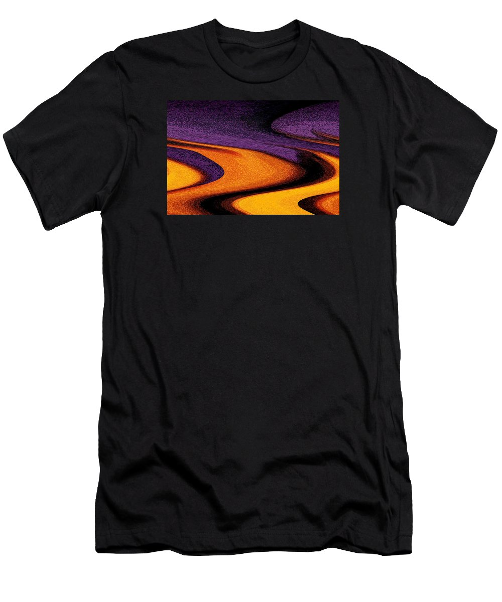Abstract Men's T-Shirt (Athletic Fit) featuring the photograph Wheat Field, Palouse by Michael Ziegler