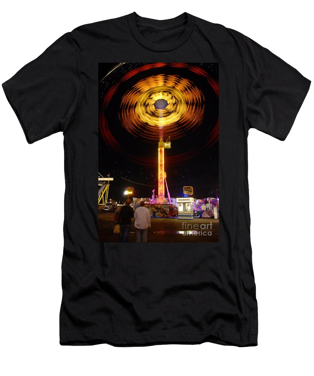Fair Men's T-Shirt (Athletic Fit) featuring the photograph Wheels Of Wonder by David Lee Thompson