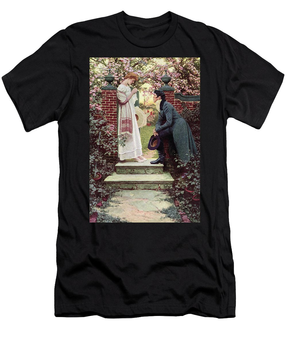 Dating Men's T-Shirt (Athletic Fit) featuring the painting When All The World Seemed Young by Howard Pyle