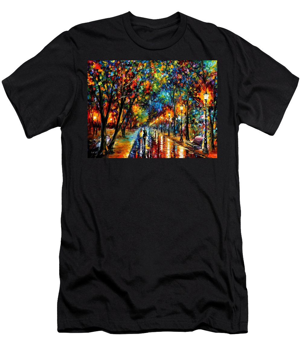 Landscape Men's T-Shirt (Athletic Fit) featuring the painting When Dreams Come True by Leonid Afremov