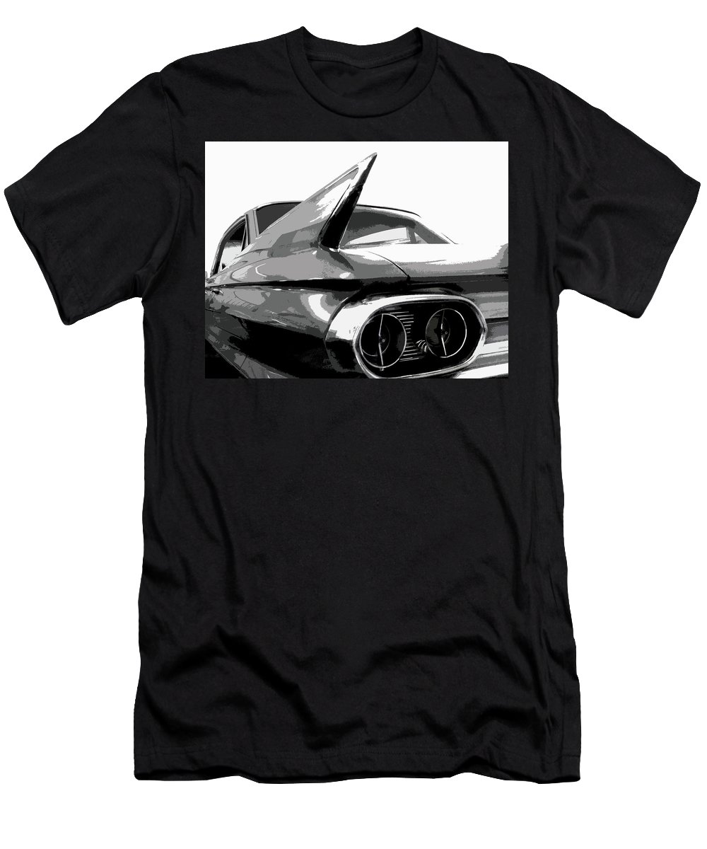Cadillac Men's T-Shirt (Athletic Fit) featuring the photograph When Fins Were Fashionable by Dick Goodman