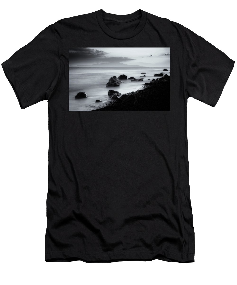 Landscape Men's T-Shirt (Athletic Fit) featuring the photograph When The Sun Goes Down by Dogukan Benli