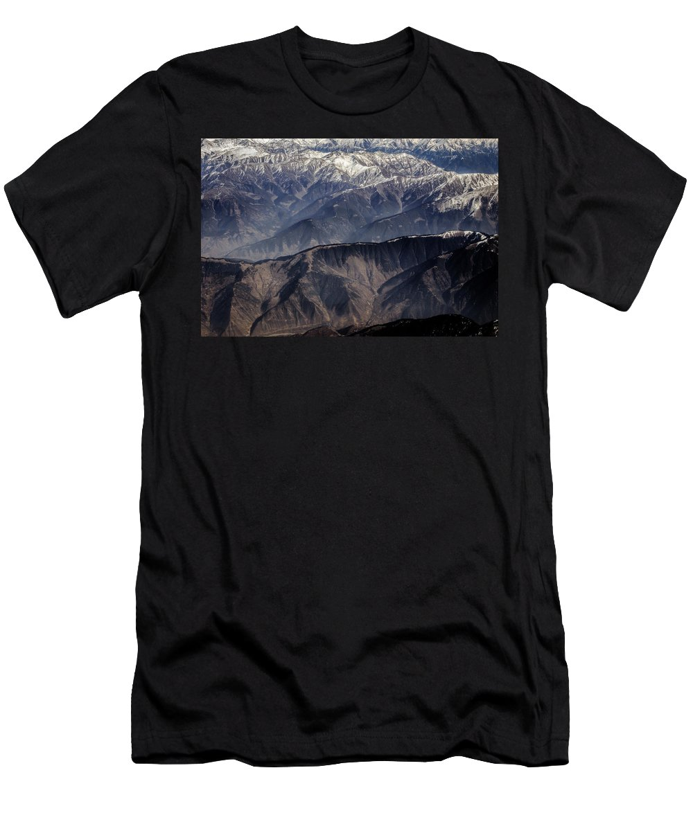 Aerial Men's T-Shirt (Athletic Fit) featuring the photograph When You Climb Up A High Mountain, You'll See A Myriad Of Mountain Which You Need To Climb Again by Fairytale Studios