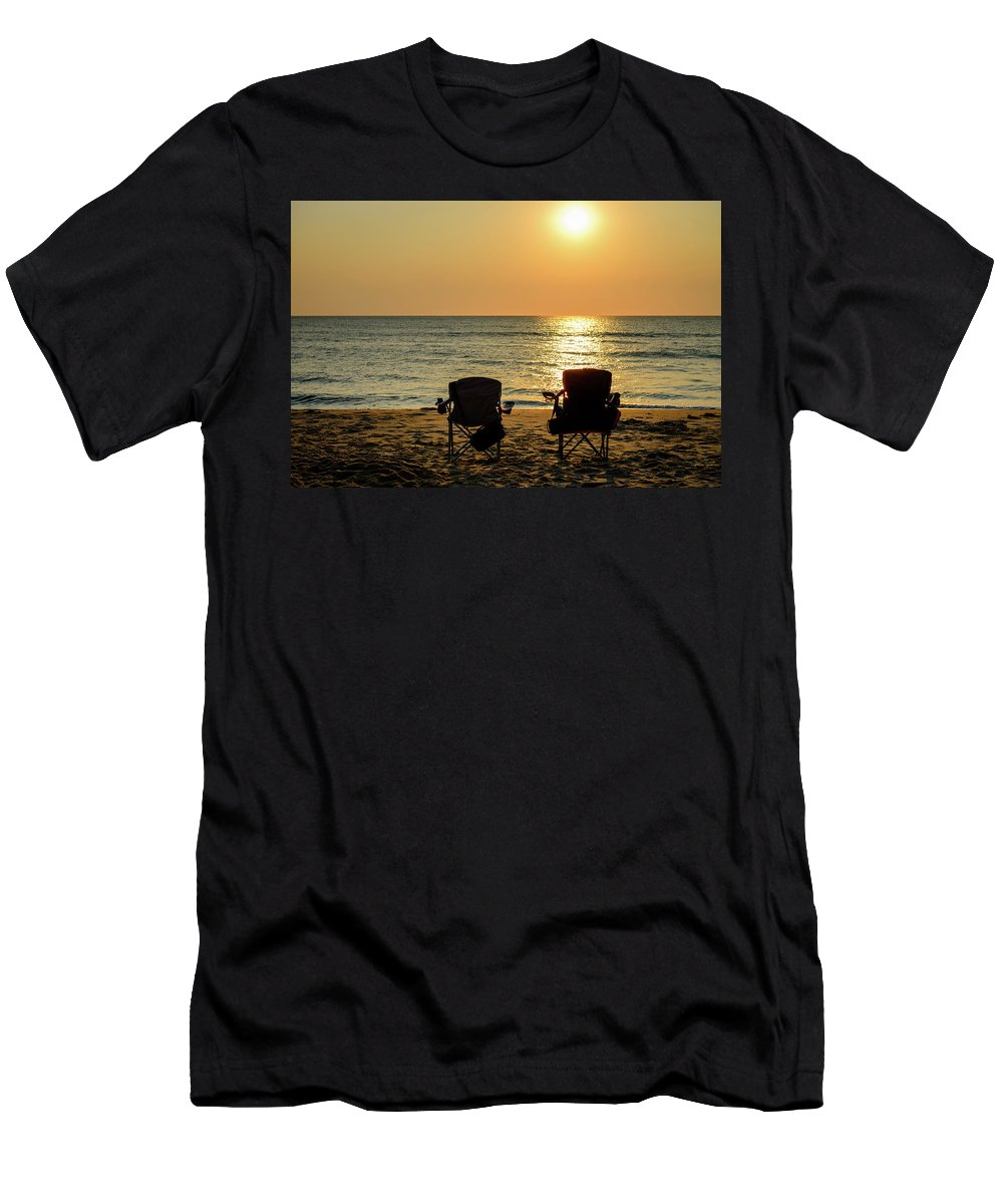 Landscape Men's T-Shirt (Athletic Fit) featuring the photograph Where Are They by Michael Scott