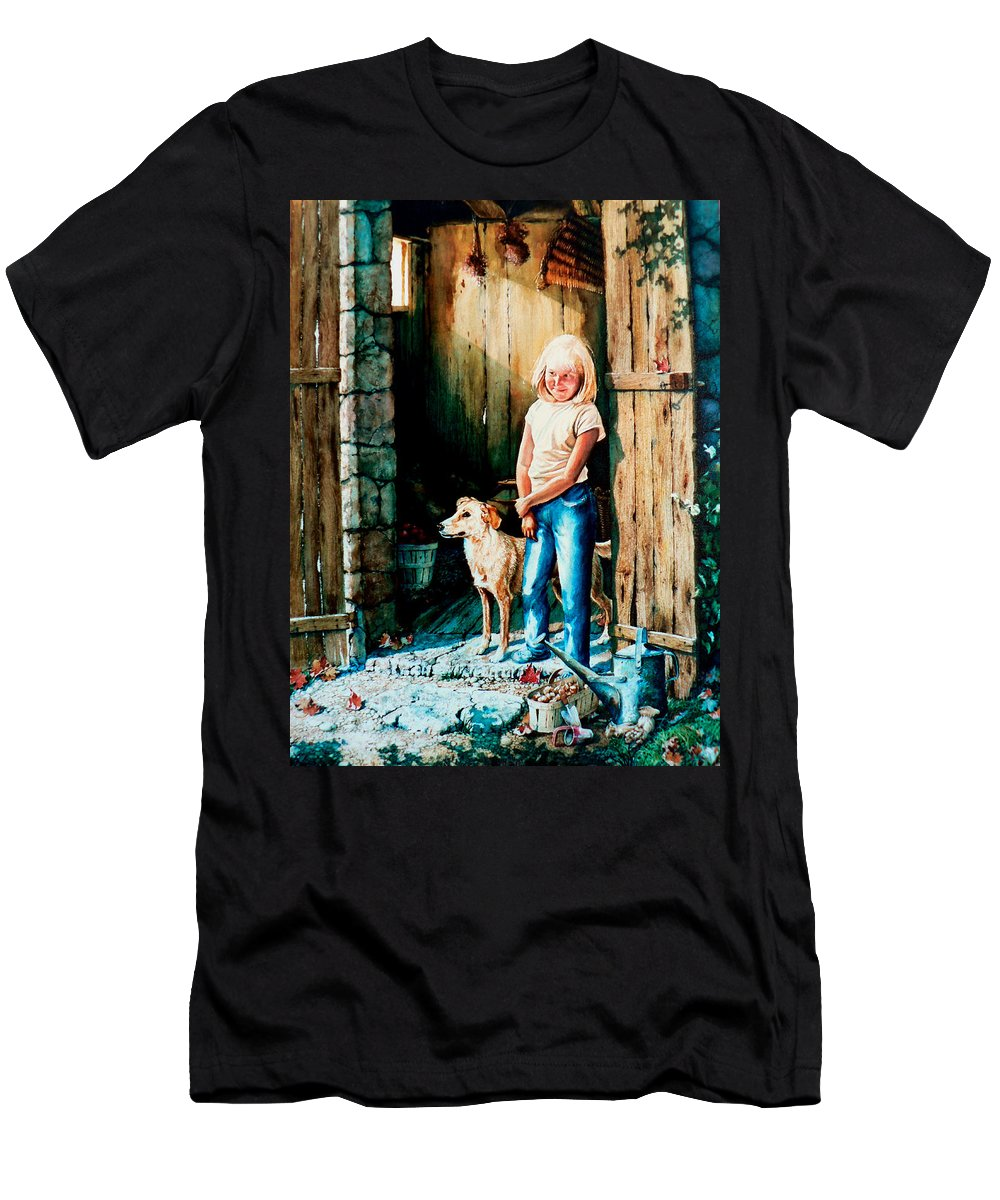 Tribute To Connie Francis Men's T-Shirt (Athletic Fit) featuring the painting Where The Boys Are by Hanne Lore Koehler