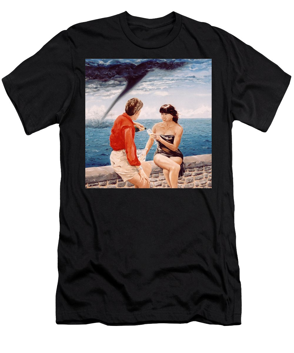 Whirlwind Men's T-Shirt (Athletic Fit) featuring the painting Whirlwind Romance by Mark Cawood
