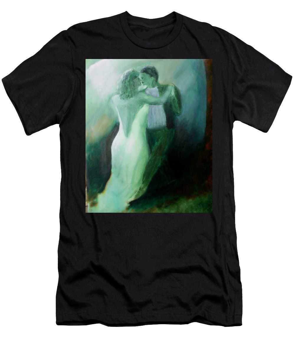 Dance Men's T-Shirt (Athletic Fit) featuring the painting Whispered Passion by Keith Thue