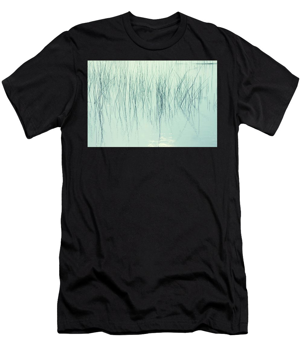 Grass Men's T-Shirt (Athletic Fit) featuring the photograph Whisps by Angela King-Jones