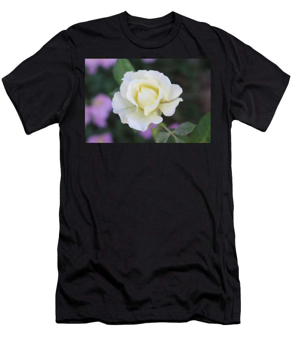 Flowers Men's T-Shirt (Athletic Fit) featuring the photograph White Beauty by Cheryl Elam
