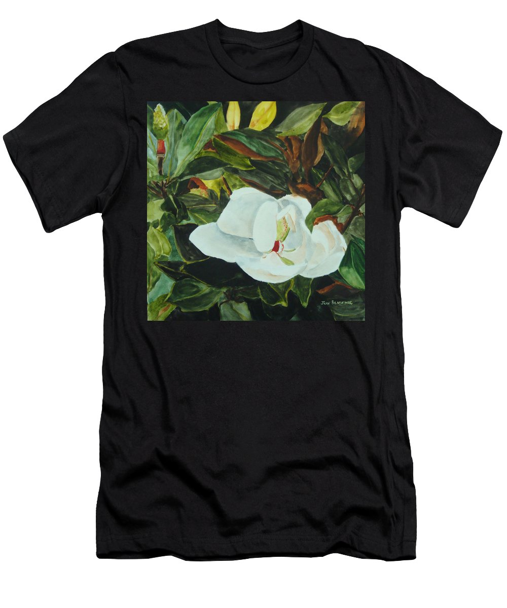 Flower Men's T-Shirt (Athletic Fit) featuring the painting White Beauty by Jean Blackmer
