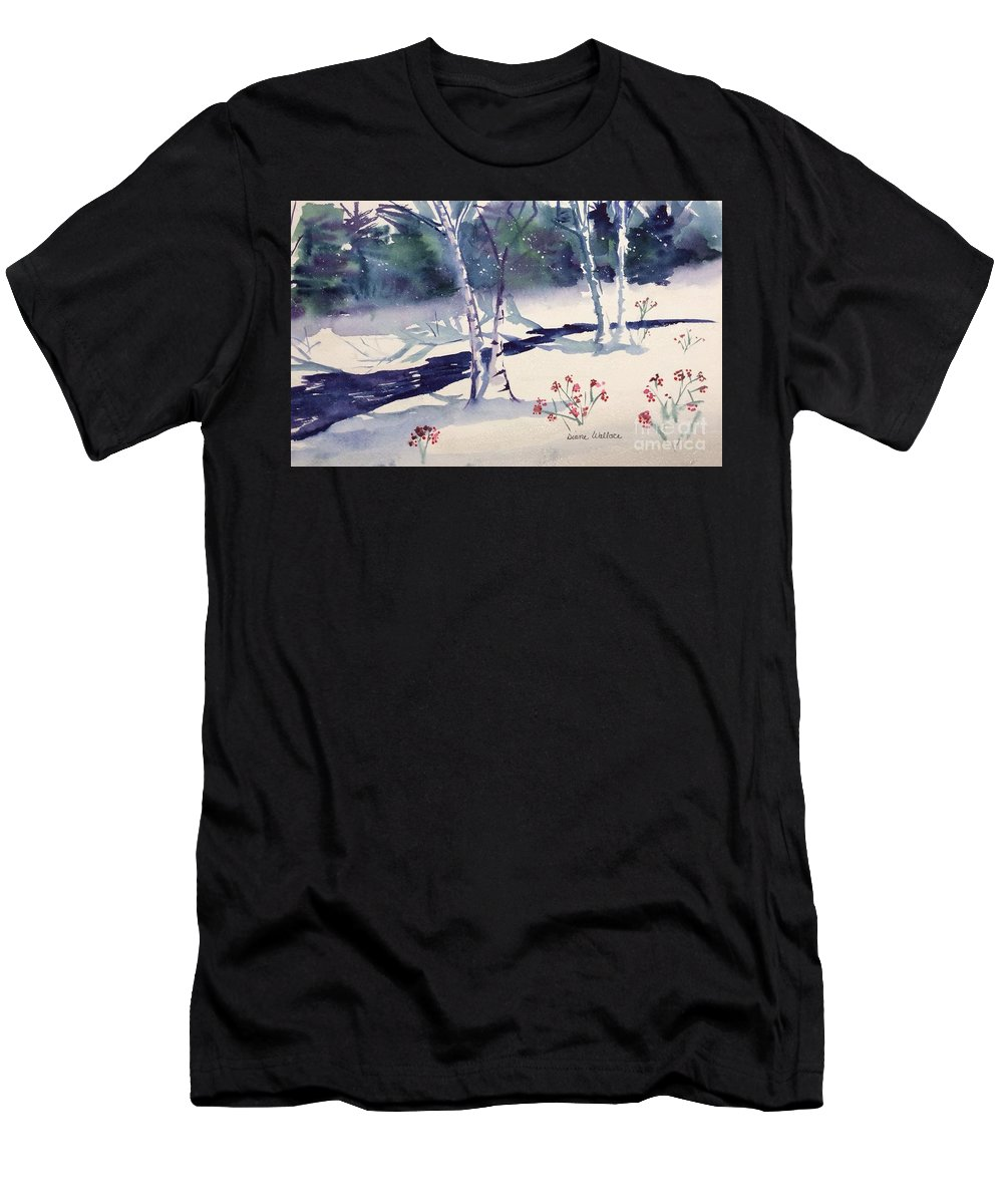 Birches Men's T-Shirt (Athletic Fit) featuring the painting White Birches by Diane Wallace