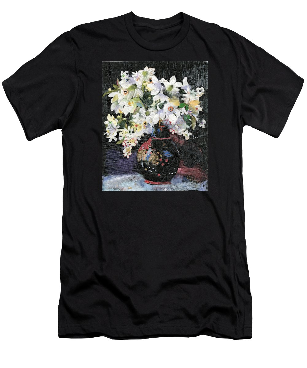 Limited Edition Prints Men's T-Shirt (Athletic Fit) featuring the painting White Celebration by Nira Schwartz