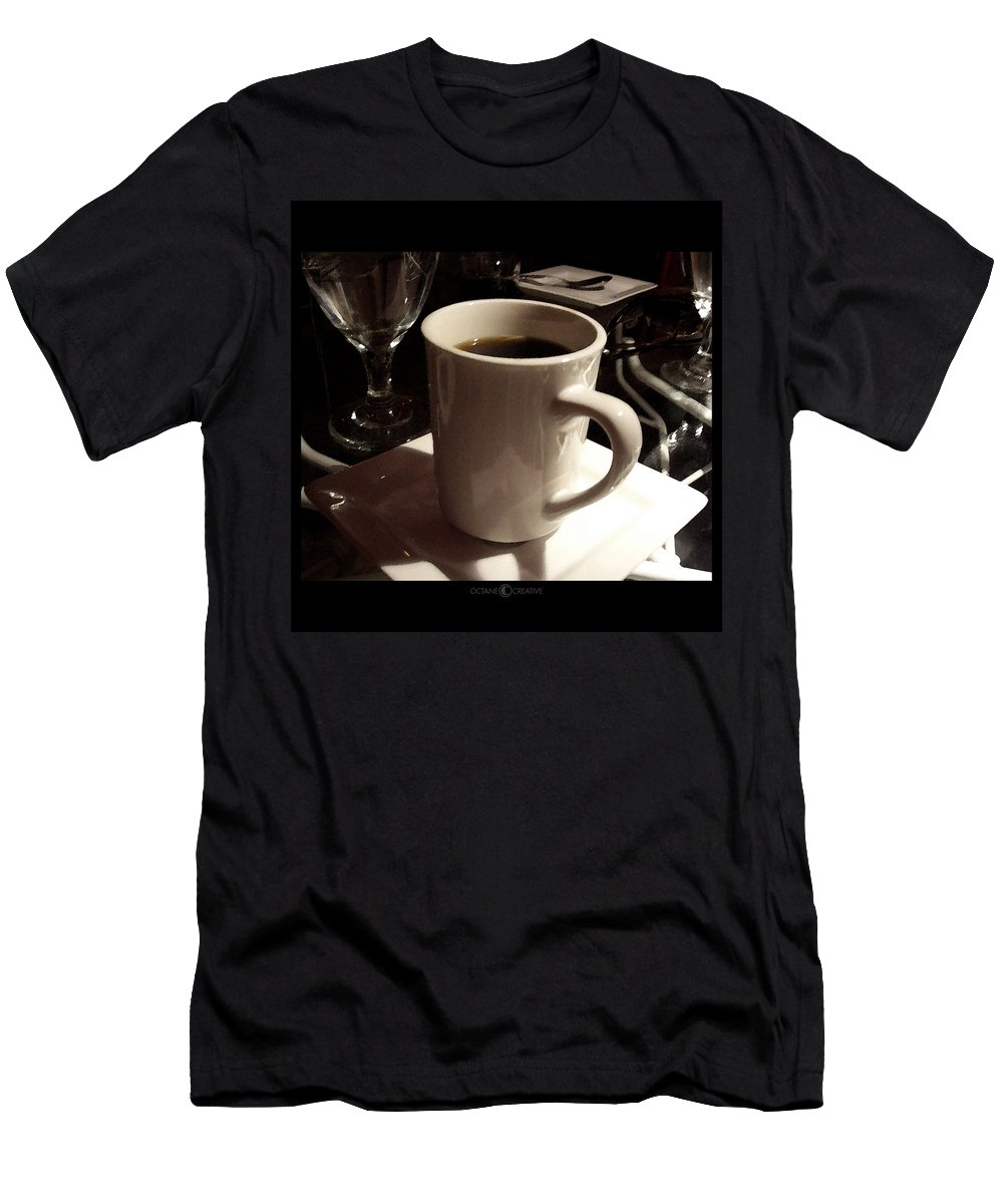 White Men's T-Shirt (Athletic Fit) featuring the photograph White Cup by Tim Nyberg