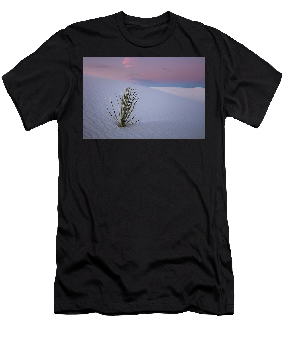 White Men's T-Shirt (Athletic Fit) featuring the photograph White Dunes by Edgars Erglis